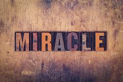 Miracle Concept Wooden Letterpress Type Kuvituskuvat