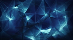 Dark blue triangles web abstract background loop 4k (4096x2304) Stock Footage