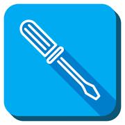 Contour Screwdriver Icon - stock illustration
