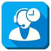 Operator Time Icon Stock Illustration