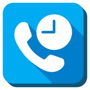 Telephone Time Icon - stock illustration