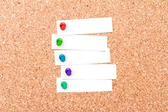 Stock Illustration of Corkboard with pins