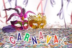 Brazilian Carnival background - stock photo