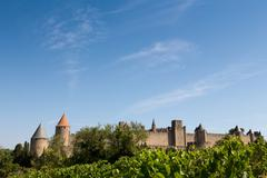 The medieval walled town of Carcassonne, UNESCO World Heritage Site, Stock Photos