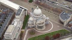 Orbiting Christian Science Plaza, Boston. Shot in November 2011. - stock footage