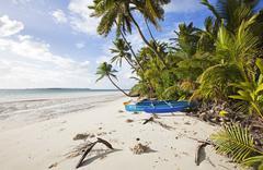 The Surf Shack beach, Cocos Keeling Islands, Western Australia, Australia, - stock photo