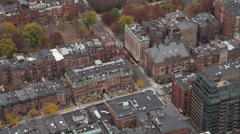 Exeter Street apartments and businesses, Boston. Shot in November 2011. Stock Footage