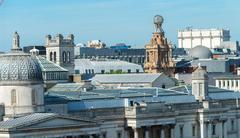 Aerial view of London skyline, UK - stock photo