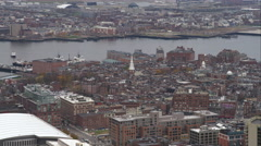 Past North End Boston; Old North Church in mid-frame. Shot in November 2011. Stock Footage