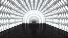 perspectival illusion in a futuristic room - stock footage