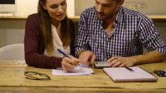 Home finance Stock Footage