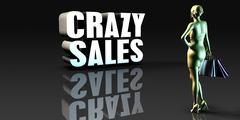 Crazy Sales Stock Illustration