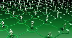 Social Interaction Online - stock illustration