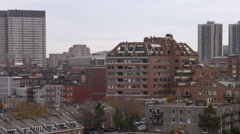 Flying from downtown Boston toward the North End. Shot in 2011. Stock Footage