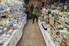Stock Photo of Moscow, Russia - January 10 2015. The interior of  souvenir shop in  shopping