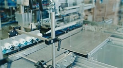 Packing machine in the enterprise Stock Footage