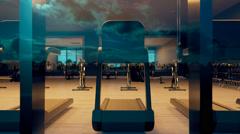 Modern Gym Exterior Stock Footage