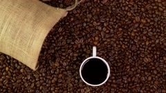 Coffee and Coffee beans Stock Footage