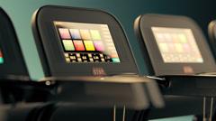 Treadmills In A Row. Gym Fitness Cardio - stock footage