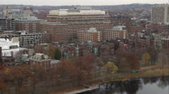Row houses along the Charles River, Boston. Shot in November 2011. Stock Footage