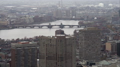 Looking at CharlesRiver from downtown Boston. Shot in November 2011. Stock Footage