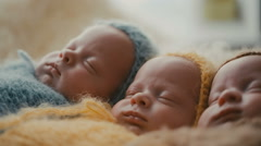 Triplets brothers Stock Footage