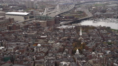 Tilt-down on Boston's North End. Shot in November 2011. Stock Footage