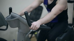 Men exercising in gym for weight loss and wellness - stock footage