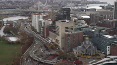 Past Massachusetts General Hospital, Boston. Shot in November 2011. - stock footage