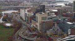 Past Massachusetts General Hospital, Boston. Shot in November 2011. Stock Footage