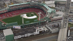 Over Fenway Park, Boston. Shot in November 2011. Stock Footage