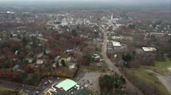 Approaching a small town south of Boston. Shot in November 2011. Stock Footage