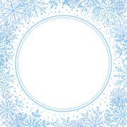 Winter Vector Greeting Card - stock illustration