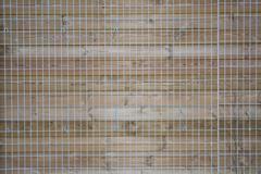 Wood lattice of crosswise planking with clipping path Stock Photos