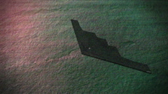 Stealth bomber nightvision Stock Footage