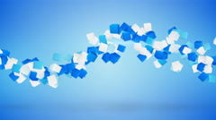 Wave of cubes abstract blue background loop 4k (4096x2304) Stock Footage