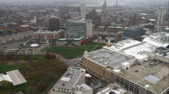 Over downtown Providence, Rhode Island. Shot in November 2011. Stock Footage