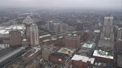Orbiting downtown Providence, Rhode Island. Shot in November 2011. Stock Footage
