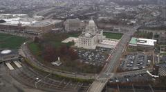 Orbiting capitol building in Providence, Rhode Island. Shot in November 2011. Stock Footage