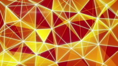 glowing orange network background seamless loop 4k (4096x2304) - stock footage
