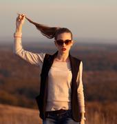 The most fashionable, glamorous photo, idea, portrait, style, trend. Stock Photos