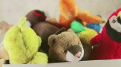 Childish soft toys - stock footage