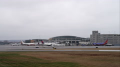 Theodore Frances Green Memorial State Airport in Providence, Rhode Island. Shot Stock Footage