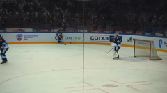 Hockey players in the warm-up Stock Footage