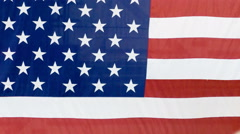 Presidential Podium Seal USA Flag Jib - stock footage