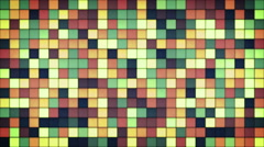 Glowing glass mosaic seamless loop background 4k (4096x2304) Stock Footage