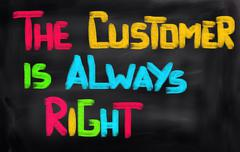 The Customer Is Always Right Concept - stock illustration