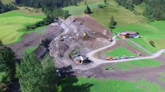 Mudslides scar the hillsides of austria following heavy rain. Europe Stock Footage