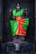Durga image, Airavatesvara Temple, Darasuram Stock Photos