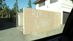 Gang Graffiti on Wall - stock footage
